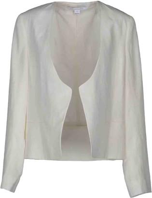 Diane von Furstenberg White Cotton Leather jackets