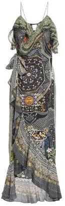Camilla Lady Lake Embellished Printed Silk Crepe De Chine Maxi Wrap Dress