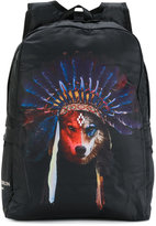 Marcelo Burlon County Of Milan Kids - wolf print backpack - kids - Nylon/Polyester - One Size