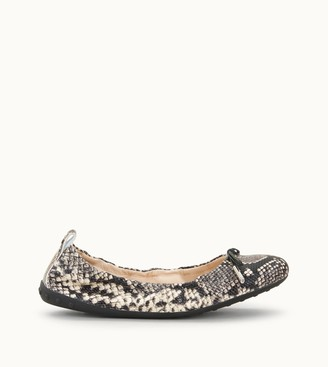 Tod's Ballerinas in Reptile-Printed Leather
