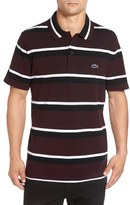 Lacoste 'M.I.F.' Stripe Piqué Polo