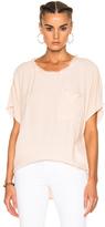 Raquel Allegra Short Sleeve Pocket Tee in Pink.