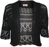 My Mix Trendz MyMixTrendz - Womens Crochet Knit Midi Sleeve Bolero Shrug