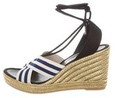 Marc Jacobs Striped Espadrille Wedges