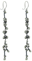 Ten Thousand Things Long Molten Cluster Earrings - Sterling Silver