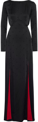Temperley London Betty Cutout Satin-jacquard Gown