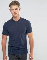 Jack and Jones Zipped Pique Polo