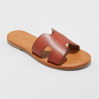 Universal Thread Women's Jenny Faux Leather Slide Sandals - Universal ThreadTM