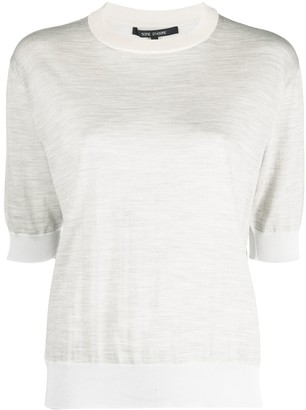 Sofie D'hoore Muse melange knit short-sleeve top