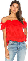 Nicholas Sofia Ruffle Top in Red. - size 0 (also in 2,4)