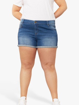 Oasis Curve Denim Shorts, Blue