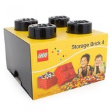 Lego Accessories Black Four brick storage box