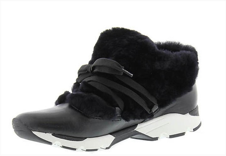 All Black Furry Sneak Sneakers