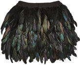 Andorine Irridescent Feather Skirt-BLACK