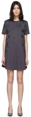 McQ Black Swallow T-Shirt Dress