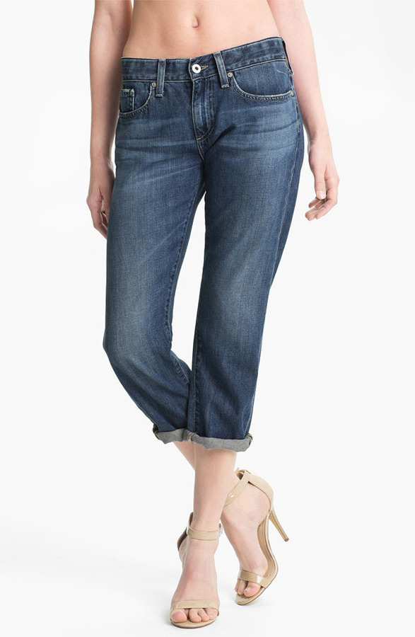 AG Jeans 'Piper' Crop Slouchy Slim Jeans (Minimalist)