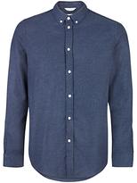 Samsoe & Samsoe Liam Cx Flannel Shirt, Dark Blue Melange