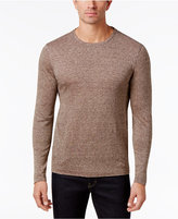 Tasso Elba Men's Heathered Long-Sleeve Linen T-Shirt, Only at Macy's
