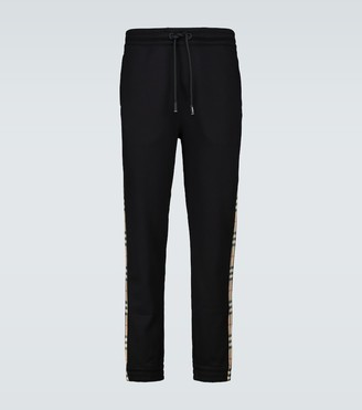 Burberry Cotton side-striped trackpants