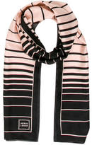 Herve Leger Silk Striped scarf