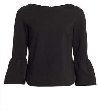 Akris Punto Bell-Sleeve Stretch Jersey Top