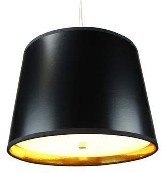 """Dov 2 - Light Shaded Drum Chandelier Latitude Run Shade Color: Black Gold, Size: 10"""" H x 14"""" W x 12"""" D"""