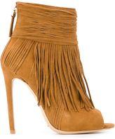 Open Toe Fringe Boots - ShopStyle