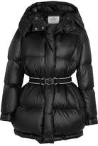 Prada Belted Quilted Shell Coat - Black