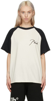 Rhude Black and White Logo Raglan T-Shirt