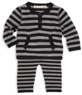 Bonpoint Baby's Two-Piece Wool Striped Top & Pants Set