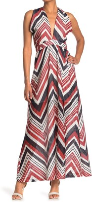 One One Six Chevron V-Neck Maxi Dress