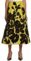 Carolina Herrera Silk A-line Skirt.