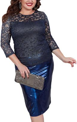 Charm 2Pc Blouse & Skirt Set