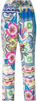 Etro mix print drawstring trousers