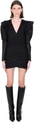 Isabel Marant Getya Dress In Black Cotton