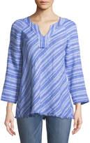 Nic+Zoe Freshwater V-Neck Linen Tunic