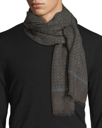 Isaia Gruppo Dotted Cashmere-Blend Scarf