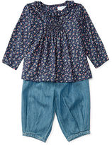 Ralph Lauren Floral Top & Denim Pant Set