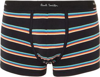 Paul Smith Striped Stretch-Cotton Boxer Briefs - Men - Black