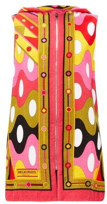 Emilio Pucci Vivara-print Cotton-terry Cover Up - Womens - Pink Multi
