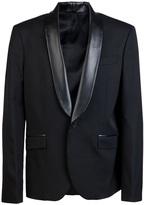 Balmain Pierre Faux leather lapel suit
