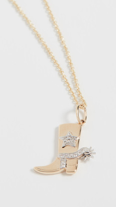 Sydney Evan Cowboy Boot Necklace