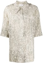 Thumbnail for your product : Lemaire Oversized Marble Print Shirt