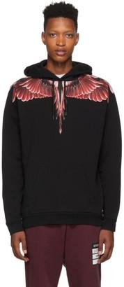 Marcelo Burlon County of Milan Black Red Ghost Wings Hoodie