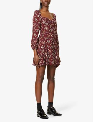 Reformation Mochi floral-print crepe mini dress