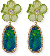 Rina Limor Fine Jewelry Floral Opal & Peridot Earrings with Diamonds