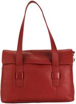 Hadaki Deep Red Hannah's Leather Messenger Bag