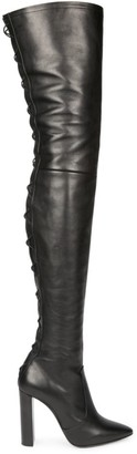 Saint Laurent Moon Over-The-Knee Leather Boots