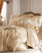 Jane Wilner Designs Lattice-Textured King Sham with Ruffle