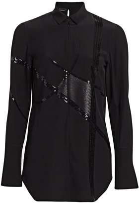 Akris Sequin Silk Crepe Tunic